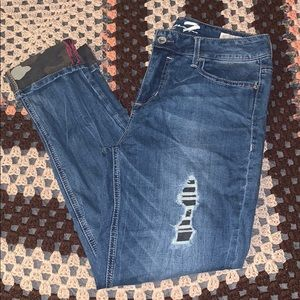 Seven7 Jeans - Ankle Skinny Distressed